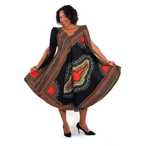 Traditional Print Umbrella Dress