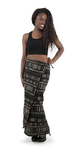Mud Cloth Wrap Skirt