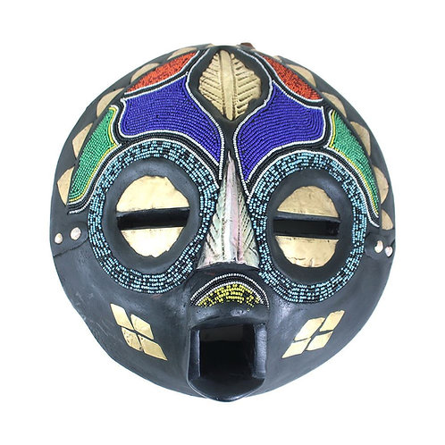 Ghanaian Round Beaded Mask