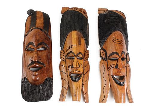 "Senegalese Mahogany Mask 21-24"""