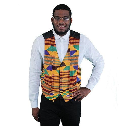 African-Made Hand Woven Kente Vest