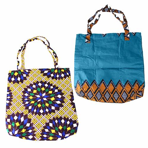 African Print Handbag - ASSORTED