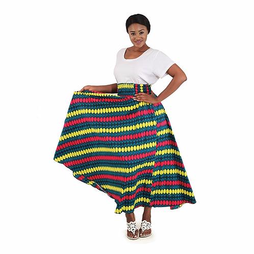 Green Kenyan Long Skirt