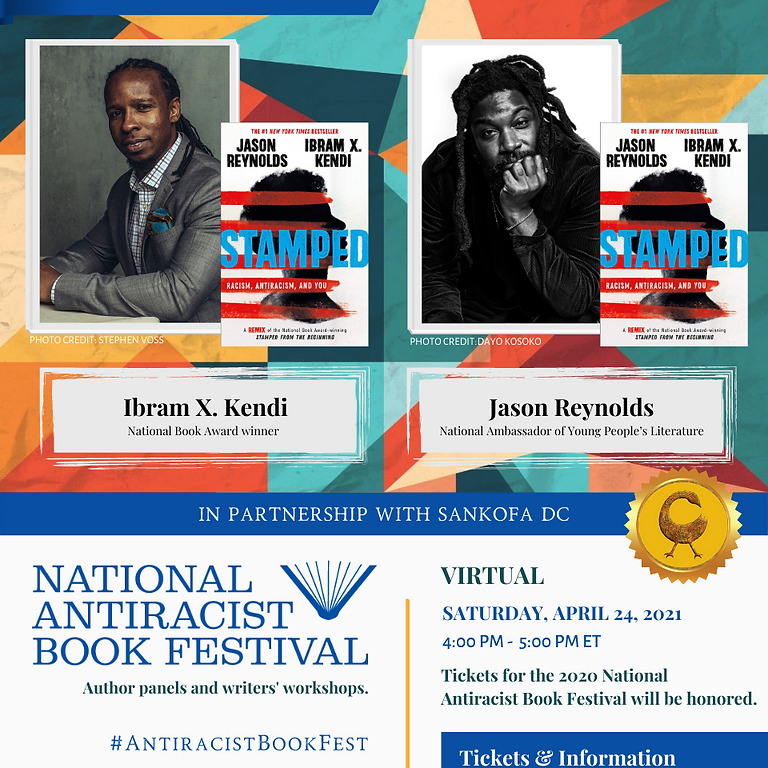 Jason Reynolds and Ibrim X. Kendi on teaching racism at 4pm!