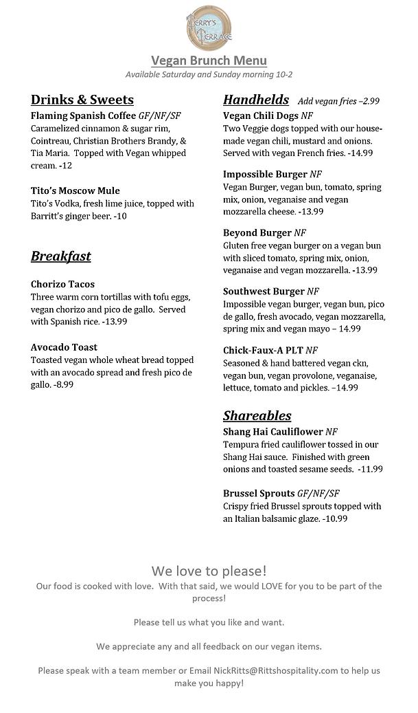 april 2021 terrys vegan menu brunch side