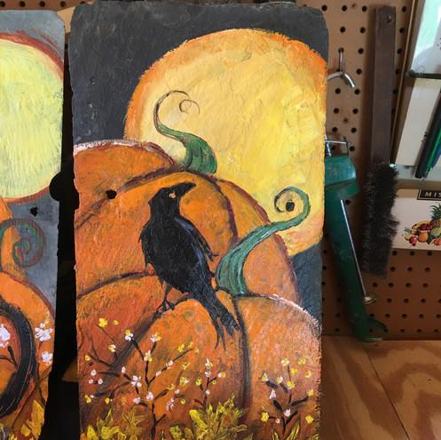 Fall Raven on Slate