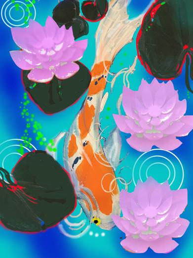 Flower Fish Paint