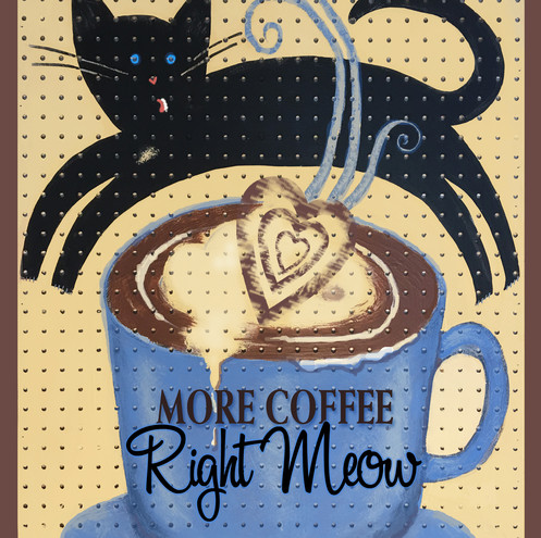Leaping Coffee Cat