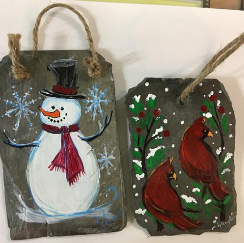 Slate Ornaments