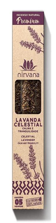 Incenso Natural Premium Lavanda Celestial - Calma e Tranquilidade - Nirvana