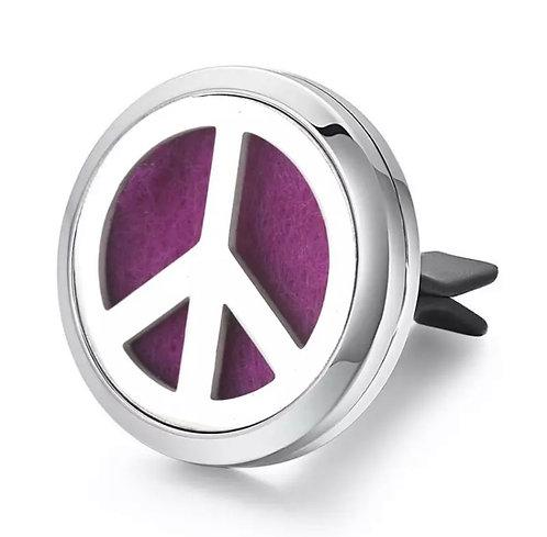 Difusor de Aromaterapia em clipe para carro - Símbolo da Paz