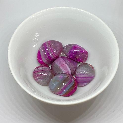 Pedra Ágata Rosa - Rolada