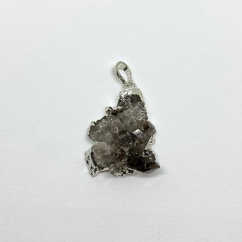 Pingente - Drusa de Quartzo Fumê