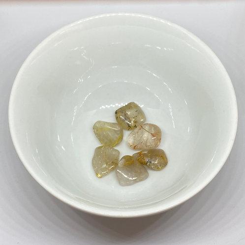 Pedra Quartzo Rutilado - Rolada