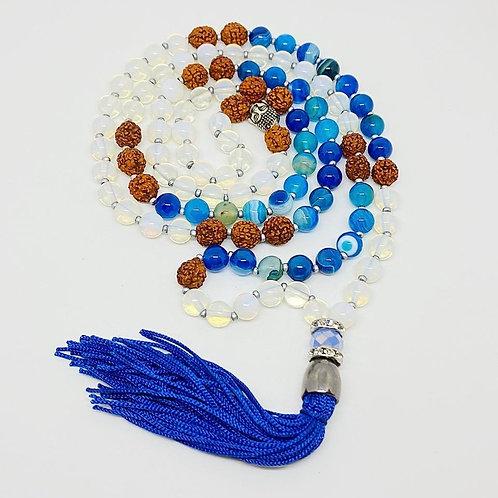 Japamala - Ágata Azul e Opalina