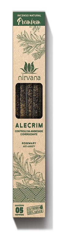 Incenso Natural Premium Alecrim - Controle da Ansiedade e Energizante - Nirvana