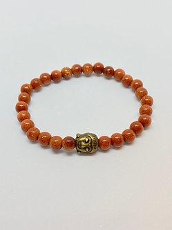 Pulseira - Pedra do sol com Buda
