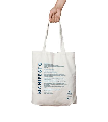 Ecobag - Manifesto em algodão cru - Positiva
