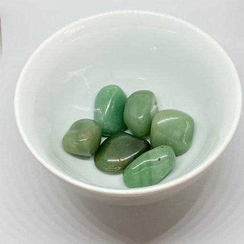 Pedra Quartzo Verde/Aventurina - Rolada