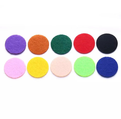Kit 10 Pads/Feltros Coloridos para Difusor de Carrro