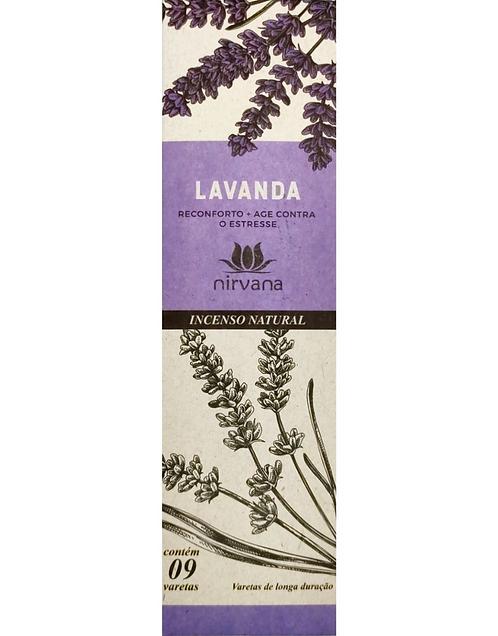 Incenso Natural Lavanda - Reconforto + Age contra o estresse - Nirvana