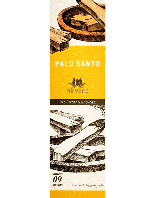 Incenso Natural Palo Santo - Purificador e Relaxamento - Nirvana