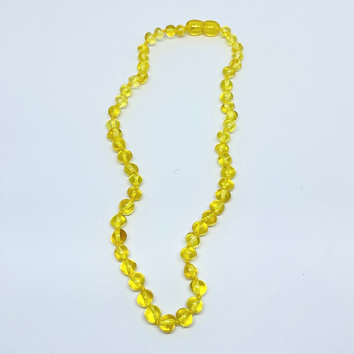 Colar de Âmbar Infantil - Cor: Amarelo