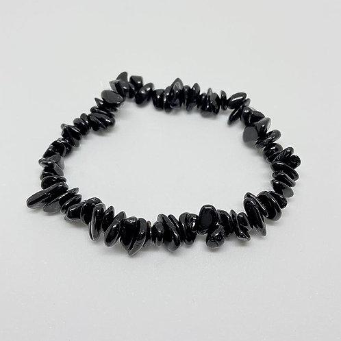 Pulseira Cascalho - Turmalina Negra