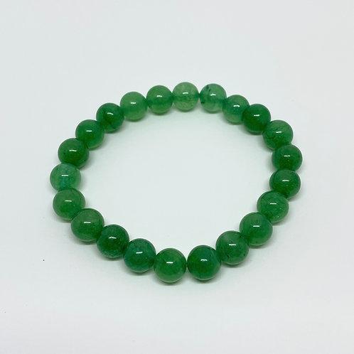 Pulseira - Aventurina/Quartzo Verde 8mm