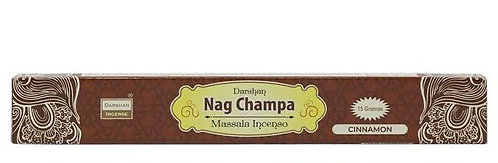 Incenso de Massala Indiano - Cinnamon (Canela) Nag Champa - Darshan