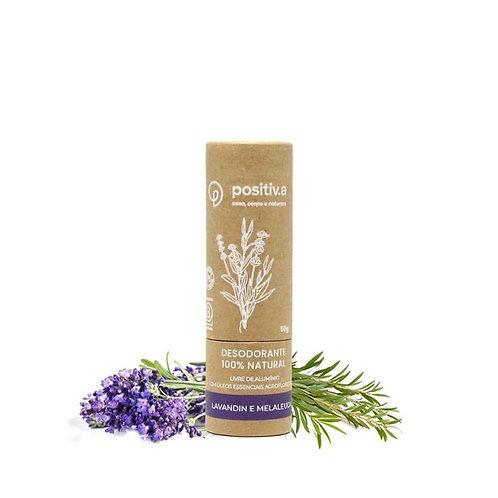 Desodorante 100% Natural Lavandin e Melaleuca - Positiv.a