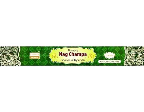 Incenso de Massala Indiano - Natural Hebs (Ervas Naturais) Nag Champa - Darshan