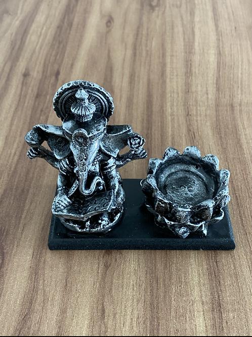 Incensário Ganesha - Prateado