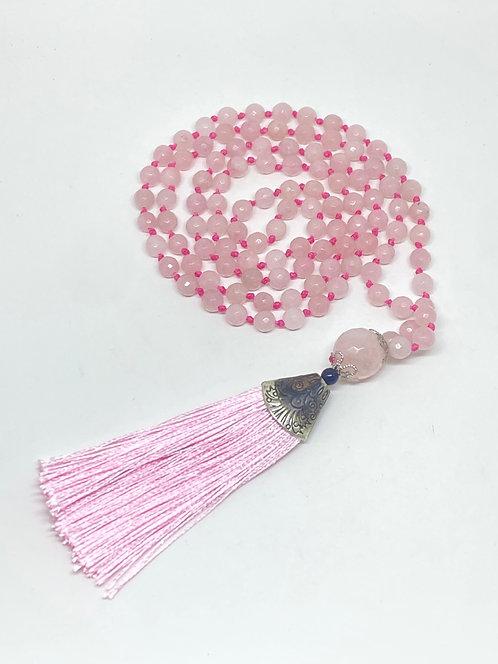 Japamala - Quartzo rosa