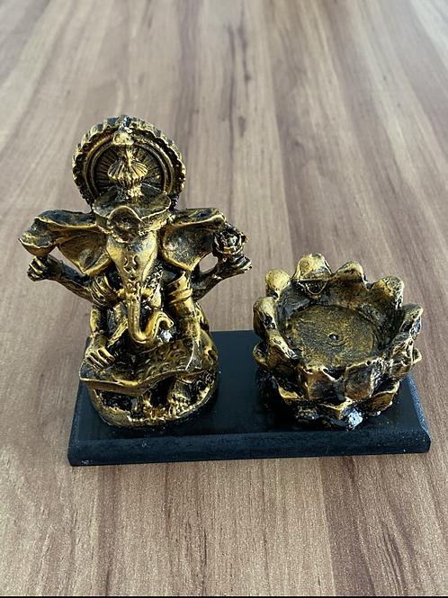 Incensário Ganesha - Dourado