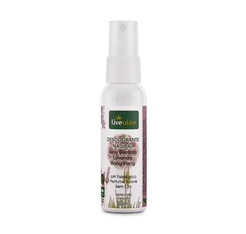 Desodorante Natural Aloe Gerânio 60ml - Live Aloe