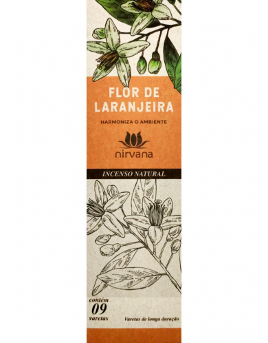 Incenso Natural Flor de Laranjeira - Harmoniza o ambiente - Nirvana