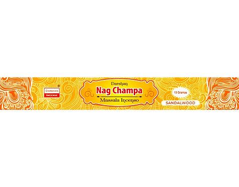 Incenso de Massala Indiano - Sandalwood (Sândalo) Nag Champa - Darshan