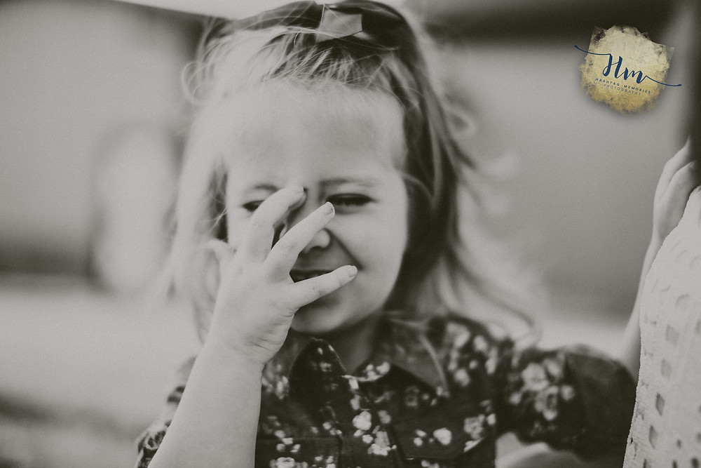 cute little girl in family photo shoot in Indianapolis by HashTag Memories