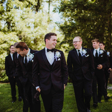 Groom and Groomsmen Hang Out