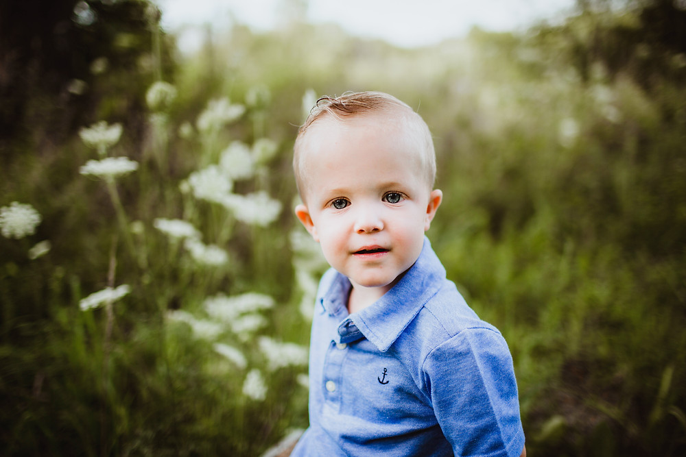 toddler portraits in Carmel, Indiana by Hashtag Memories Photography. Little boy in blue shirt