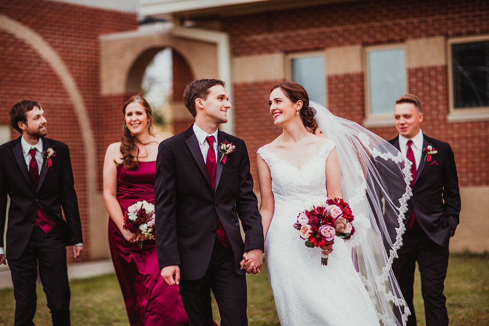 Indianapolis Wedding Planner, bride gets married at St Maria Goretti in Westfield, Indiana