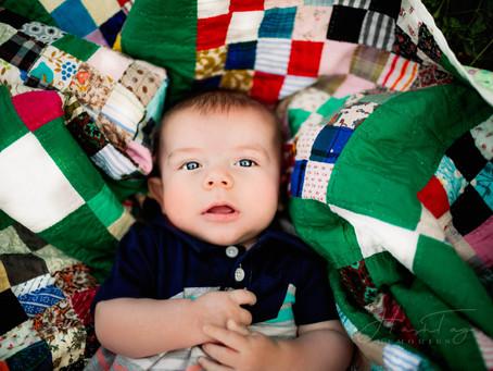 Milestone Photography, Indianapolis Newborn Photography |  Rowan turns 4 Months Old