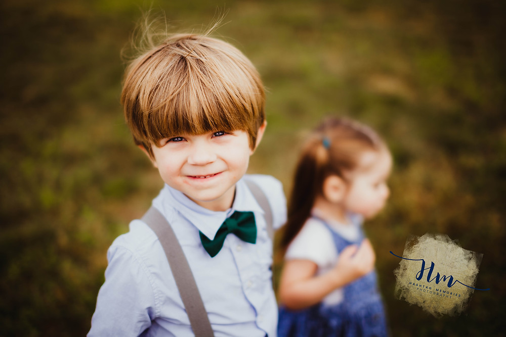 little by wit bowtie during family photography session by HashTag Memories