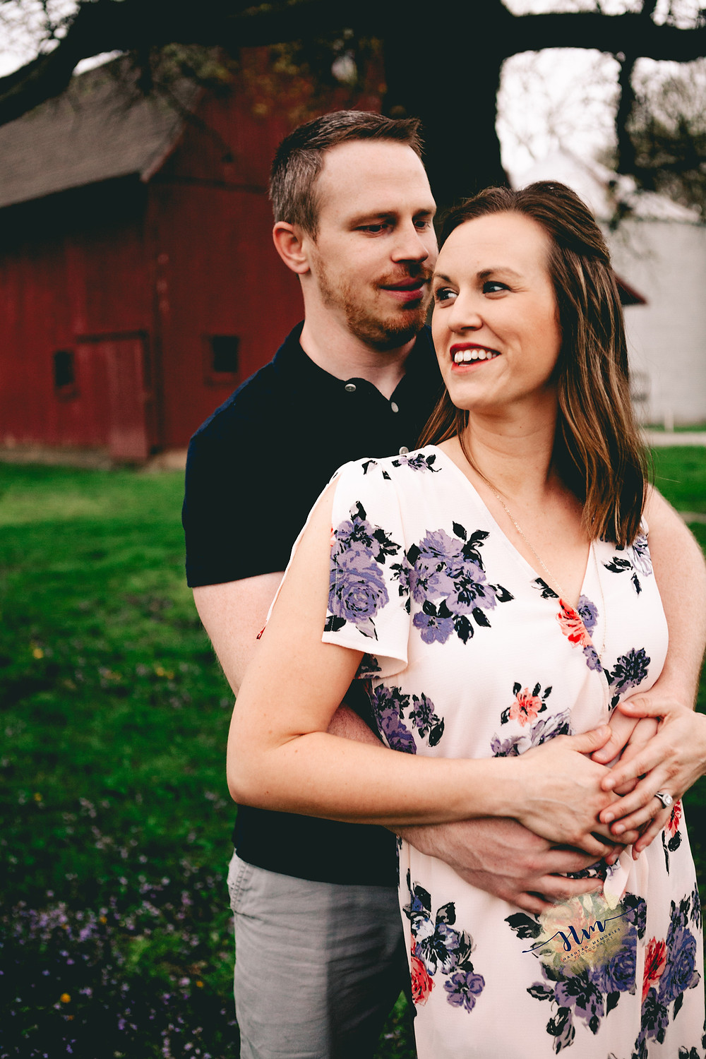 couples photographer in carmel indiana with red barn