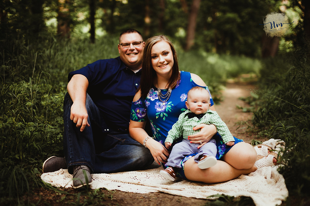 Summer family photos with infant in Noblesville, Indiana by HashTag Memories