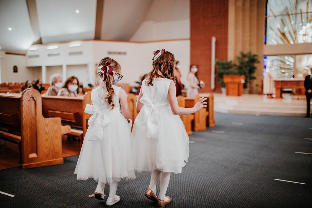 catholic wedding at st maria goretti, noblesville wedding photographer