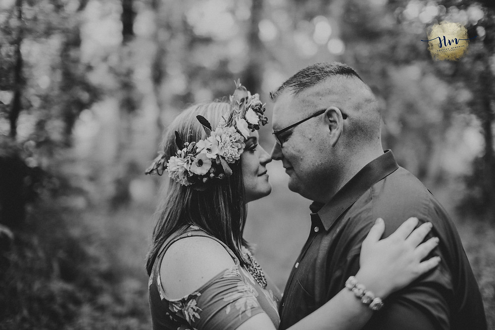 black and white engagement photography in Indianapolis