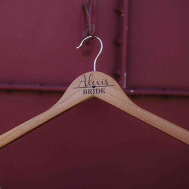 Brides Wedding Details & Hanger