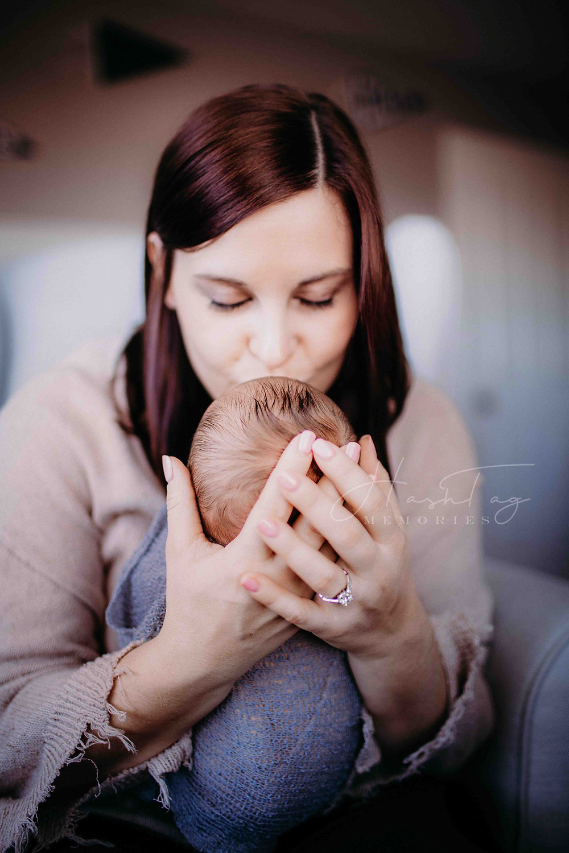 noblesville mom holds newborn baby boy from IU Health Maternity
